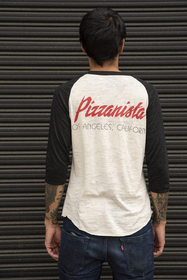 Pizza Tongue Burnout Baseball T-Shirt